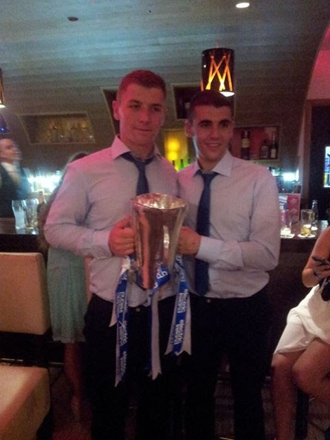 Sam and Craig with All-Ireland minor cup